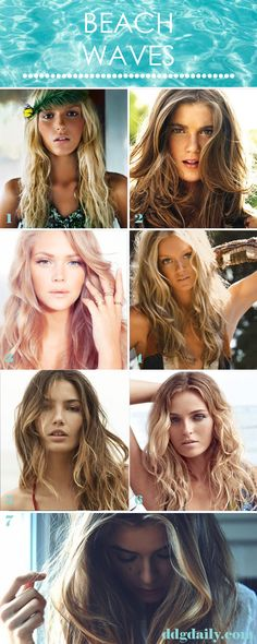Beach Wave Hair: A DDG Moodboard full of tousled tresses - dropdeadgorgeousdaily.com #summerhair #summer2013