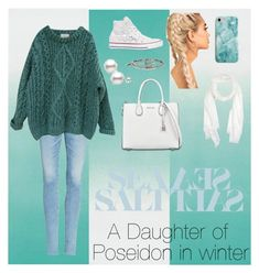 A Daughter of Poseidon in Winter by megster021 on Polyvore featuring polyvore, fashion, style, Essentiel, AG Adriano Goldschmied, Converse, MICHAEL Michael Kors, Alex and Ani, Mila Schön, Recover, Designers Guild, clothing, percyjackson, pjo, camphalfblood, HoO and daughterofposeiden