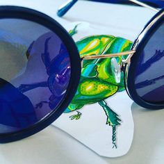 Oh hello 🐞  #rosebugs #bug #blue #green #draw #drawing #sunglass #budapestagram #budapest #hungary