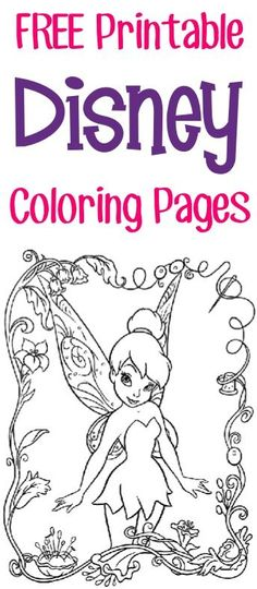 FREE Printable Disney Coloring Pages {Princess, Fairies, Pirates + more} | The Frugal Girls | Bloglovin'