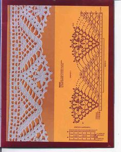 "Photo from album ""Bordados Modernos Barradinhos on Yandex. Annie's Crochet, Crochet Dollies, Crochet Angels, Crochet Lace Edging, Crochet Diagram, Thread Crochet, Crochet Trim, Filet Crochet, Crochet Flowers"
