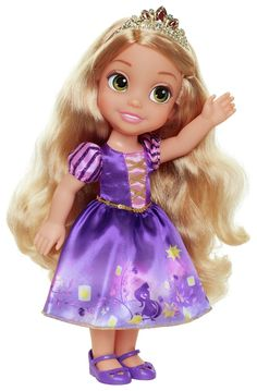 Buy Disney Princess Toddler Doll - Rapunzel at Argos. Thousands of products for same day delivery or fast store collection. Disney Princess Toddler Dolls, Disney Princess Aurora, Princess Rapunzel, Disney Dolls, Little Girl Toys, Toys For Girls, Disney Decendants, Rapunzel Dress, Pig Party