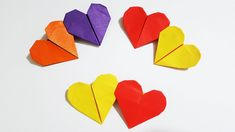 Origami Double Heart is a very lovely and sweet for a special occasion. Origami Double Heart will be the best acessories in Valentine, Mother's Day… Origami . Easy Origami Heart, Cute Origami, Origami Boat, How To Make Origami, Origami Easy, Origami Hearts, Free Coloring, Coloring Books, Kids Coloring