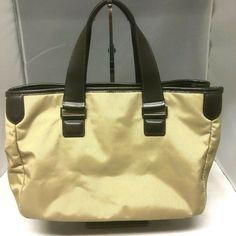e11916323189 Tumi Khaki Tote Brown Leather Trim Fuschia Pink Interior Travel Bag #Tumi  #Tote