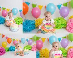 Colourful cake smash ~ rainbow cakesmash