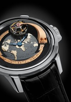 The Gagarin Tourbillon by Bernhard Lederer platinum with grey map