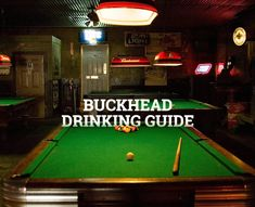 Your official Buckhead drinking guide is here...