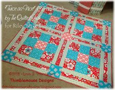 Twice as Nice by The Quilted Fish for Riley Blake is the adorable fabric collection featured in this fun picnic quilt by Thimblemouse & Spouse. Follow this pin to find out more about this quilt, and find the fabric here: http://www.fabricshack.com/cgi-bin/Store/store.cgi?cart_id=7472907.IP71.48.69.25IP.2250.s0&product=rileyblake_twiceasnice at the Fabric Shack!