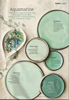 Soothing Bedroom Paint Colors Better Home And Gardens Featured Paint Shades Bedroom Paint Colors, Interior Paint Colors, Paint Colors For Home, Wall Colors, House Colors, Teal Paint Colors, Sea Green Color, Green Paint Colors, Interior Painting