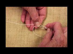 How To Tie An Upholstery Slip Knot | Alison Scott Upholstery - YouTube