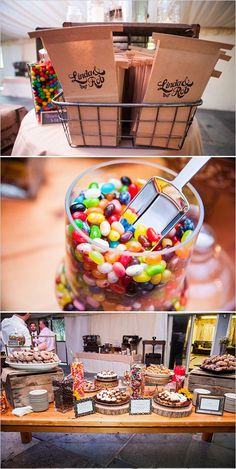 Mix candy and desserts for a sweet combination