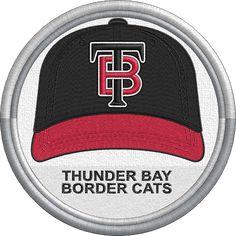 Thunder Bay Border Cats baseball cap logo - sports logo - uniform - Northwoods League - Minor League Baseball - MiLB - Created by John Majka