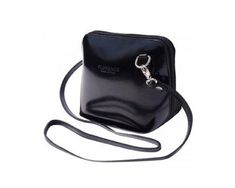 LaGaksta Small Flat Mini Crossbody Leather - Black