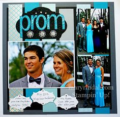 Prom Scrapbook Page - like the strips that make up the background.
