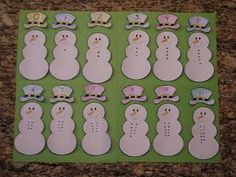Winter Snowman Math Counting Preschool Lesson Plan