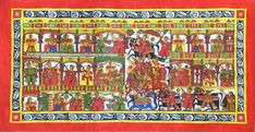 Mughal Paintings, Persian Miniatures, Rajasthani art and other fine Indian paintings for sale at the best value and selection. Mughal Miniature Paintings, Mughal Paintings, Indian Paintings, Phad Painting, Rajasthani Art, Royal Art, Krishna Painting, Indian Art, Handmade Art