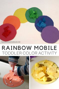 Put together an easy toddler rainbow activity by making a colorful window display! This is a great color sorting activity that finishes at the art table, when all the pieces are glued onto the matching circles. Makes a nice classroom decoration, too! Rainbow Activities, Toddler Learning Activities, Rainbow Crafts, Sorting Activities, Classroom Activities, Rainbow Art, Art Activities, Activities For 2 Year Olds Daycare, Color Activities For Toddlers