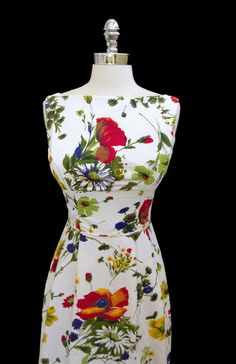 Vintage 1950s 1960s Floral Cotton Cocktail by CalendarGirlVintage