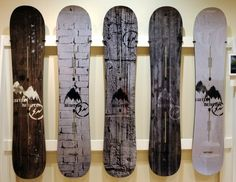 Snowboard Display Hanging Snowboards Burton K2 Ikea