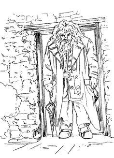 hagrid out of doors coloring pages harry potter coloring pages kidsdrawing free coloring - Coloring Printables For Kids