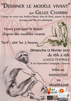 Atelier de dessin d'après modèles vivants  Ajaccio le 12 février 2017 Locu Teatrale » Corsevent