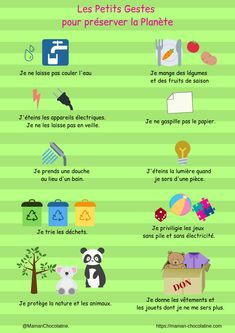 French Lessons For Beginners, 5th Class, Education Positive, French Education, Earth Day Activities, Teaching Schools, Teaching French, Edd, Ecology