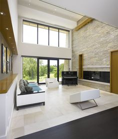 Image result for golf course home architect Village Houses, Big Houses, Stunning View, Beautiful, Wood Siding, Architect House, Second Floor, Entrance, Golf Courses