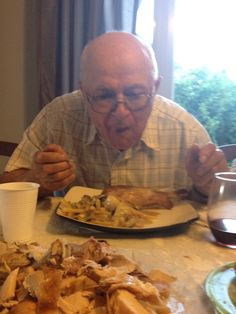 """""""Tomas! People think I'm too old to be eating like a horse"""" """"I'm gonna die soon anyway, don't matter anymore""""   Guaranteed to live past 100"""