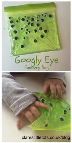googly eye sensory bag for mess free sensory halloween fun for babies and…