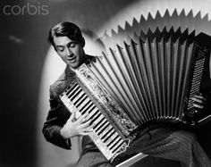Jame Jimmy Stewart | Actor James Stewart Playing Accordion - JS1565254 - Rights Managed ...