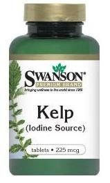 Iodine tabs from Natural Kelp 225 mcg 250 Tabs for survival kit by Swanson. $4.50. Iodine tables from natural Kelp ( Natural Iodine Source ) Great for your survival kit.   The US government is saying that it is not necessary to stack up on iodine right now but because of the earthquake that produced the huge tsunami and damaged the nuclear facilities in Japan people from many parts of the world are buying Iodine tablets  . So if you consider it necessary then ...