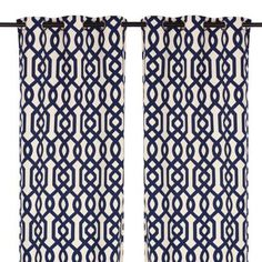 Navy Gate Hill Curtain Panel Set, 108 In