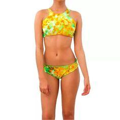 Traje De Baño Bikini Estampado Tie Dye Reversible Mujer - $ 1,500.00
