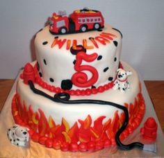 Fire Truck & Dalmations Birthday Cake | Shared by LION