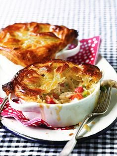 The Casserole Queens' Chicken Pot Pie with Puff Pastry Crust.  Making this this week.