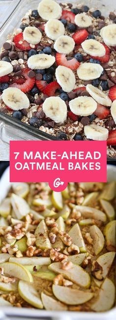 Whip up any one of these, and you've got breakfast covered for the week.  #baked #breakfast #casserole https://greatist.com/eat/make-ahead-oatmeal-bakes