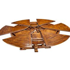 Expandable Round Dining Table, Extra Large Jupe Table