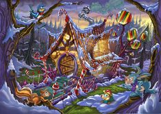 Hansel and Gretel's home by CARUTOONS.deviantart.com on @DeviantArt