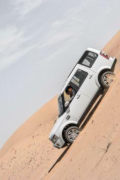 LR4 in Dubai desert