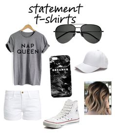 """Untitled #15"" by devon-taylor-1 ❤ liked on Polyvore featuring Frame, Converse, Yves Saint Laurent and Mr. Gugu & Miss Go"