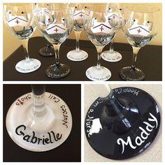 Hand painted Nurse Wine glasses!  Nurses call the shots! Nurse gift Nurse glass Nurse wine glass https://www.etsy.com/shop/Buttonwoodboutique