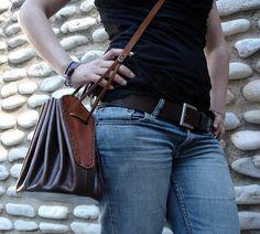 LEATHER HANDMADE BAG / Bag / Leather Bag / Leather por PACOSASTRE