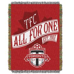 "Toronto Fc Mls Woven Tapestry Throw Blanket (48""x60"")"