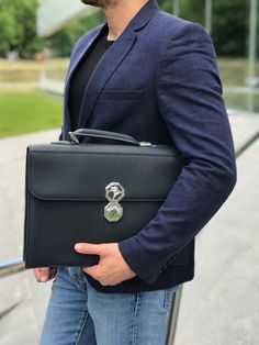 4848cba0aba1 New Leather Men s Stefano Ricci Bag (case)