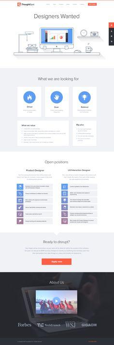 Designers Wanted / Jonathan Moreira Flat Web Design, Web Design Tools, Modern Web Design, Web Design Trends, Web Design Inspiration, Tool Design, Webpage Layout, Web Layout, Gui Interface