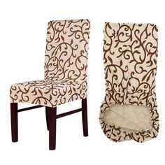 Funda de silla extraíble con estampado de flores Meijuner funda de asiento de cocina moderna para banquete