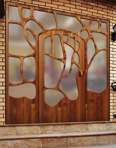 Modern Front Door Designs That Will Beautify Your Home Are you satisfied with the front design of your house? If you are not, take a look in (Modern Front Door… Wooden Door Design, Front Door Design, Wooden Doors, Unique Front Doors, Modern Front Door, Portal, Art Nouveau, Sliding Patio Doors, Entry Doors