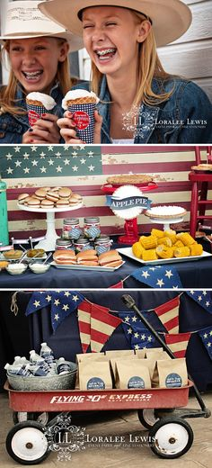 All American Picnic by Loralee Lewis featuring the Star Spangled Collection, www.LoraleeLewis.com