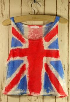Retro Great Britain Flag Dyed Top...sweet!