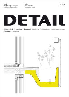"Architectural Drawing Design Cover of ""DETAIL - Fassade"" - This is an example of a project I documented using Revit Detail Architecture, Landscape Architecture Drawing, Architecture Concept Drawings, Green Architecture, Revit Architecture, Master Arquitectura, Curtain Wall Detail, Wall Section Detail, Green Facade"